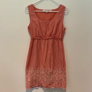 Max Studio Pink Embroidered Summer Dress
